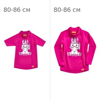 Комплект: УФ-защитная детская футболка IQ-UV Unicorn Kids, рост - 80-86 см, возраст - 1-1,5 лет, цвет - розовый