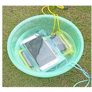 Герметичный непромокаемый чехол для телефона , цвет - жёлтый, ПВХ, рис. 4 - Swimi - интернет магазин