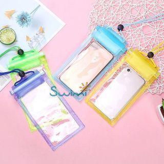 Герметичный непромокаемый чехол для телефона , цвет - жёлтый, ПВХ, рис. 6 - Swimi - интернет магазин