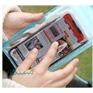 Герметичный непромокаемый чехол для телефона , цвет - жёлтый, ПВХ, рис. 2 - Swimi - интернет магазин