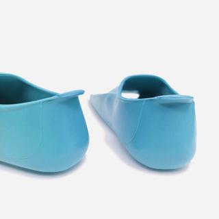 Ласты детские для бассейна Propercarry Elastic, размер - 27-28, цвет - голубой (аква), 100% натуральный каучук, рис. 2 - Swimi - интернет магазин