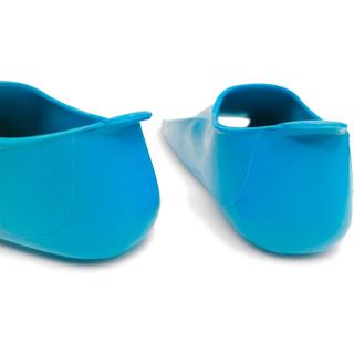 Ласты детские укороченные тренировочные Propercarry Junior, размер - 35-36, цвет - голубой (аква), 100% натуральный каучук, рис. 3 - Swimi - интернет магазин