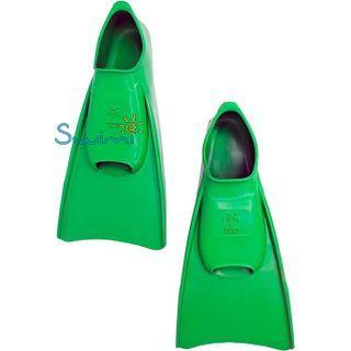 Ласты детские укороченные тренировочные Propercarry Junior, размер - 35-36, цвет - зелёный, 100% натуральный каучук, рис. 6 - Swimi - интернет магазин