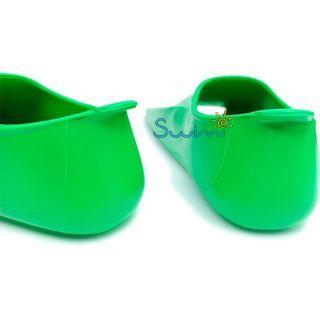 Ласты детские укороченные тренировочные Propercarry Junior, размер - 35-36, цвет - зелёный, 100% натуральный каучук, рис. 5 - Swimi - интернет магазин