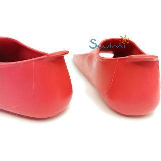Ласты детские укороченные тренировочные Propercarry Junior, размер - 39-40, цвет - красный, 100% натуральный каучук, рис. 5 - Swimi - интернет магазин