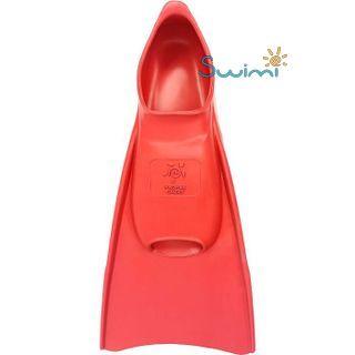 Ласты детские укороченные тренировочные Propercarry Junior, размер - 39-40, цвет - красный, 100% натуральный каучук, рис. 3 - Swimi - интернет магазин