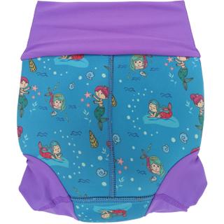 Детский многоразовый подгузник Propercarry неопреновый, 1-1,5 года, размер - L, 74-80 см, вес ребенка - от 10 до 12 кг, принт - Русалки на голубом - артикул: SN1903-001L, рис. 3 - Swimi - интернет магазин