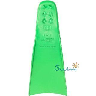 Ласты детские грудничковые Propercarry Super Elastic, размер - 23-24, цвет - зелёный, 100% натуральный каучук + Плавательные очки для малыша Propercarry, рис. 4 - Swimi - интернет магазин