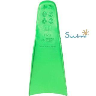 Ласты детские для бассейна Propercarry Super Elastic, размер - 25-26, цвет - зелёный, 100% натуральный каучук, рис. 3 - Swimi - интернет магазин