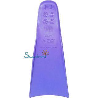 Ласты детские для бассейна Propercarry Super Elastic, размер - 25-26, цвет - фиолетовый, 100% натуральный каучук + Клписа зажим для носа, рис. 4 - Swimi - интернет магазин