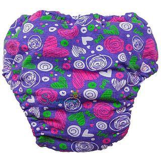 Для девочки. Ласты детские грудничковые Propercarry Super Elastic, размер - 23-24, цвет - фиолетовый + Многоразовые трусики-подгузники СЕРДЦЕ В МЕЧТАХ+ Шапочка для плавания СЕРДЦЕ В МЕЧТАХ, рис. 9 - Swimi - интернет магазин