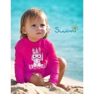 УФ-защитная детская футболка IQ-UV Unicorn Kids, рост - 80-86 см, возраст - 1-1,5 лет, цвет - розовый, рис. 4 - Swimi - интернет магазин