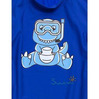 УФ-защитная детская футболка IQ-UV Dino Kids, рост - 80-86 см, возраст - 1-1,5 года, цвет - синий, рис. 2 - Swimi - интернет магазин