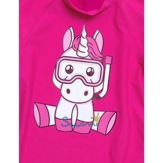 УФ-защитная детская футболка IQ-UV Unicorn Kids, рост - 80-86 см, возраст - 1-1,5 лет, цвет - розовый, рис. 3 - Swimi - интернет магазин