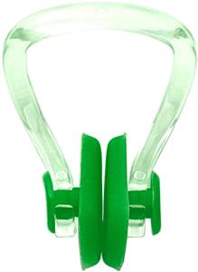 Клписа зажим для носа взрослый для плавания, цвет - зелёный, рис. 1 - Swimi - интернет магазин