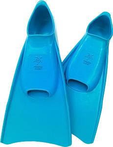 Ласты детские укороченные тренировочные Propercarry Junior, размер - 35-36, цвет - голубой (аква), 100% натуральный каучук, рис. 1 - Swimi - интернет магазин