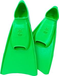 Ласты детские Propercarry укороченные тренировочные, размер - 29-30, цвет - зелёный, 100% натуральный каучук, рис. 1 - Swimi - интернет магазин