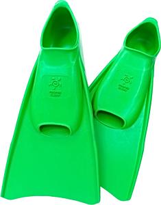 Ласты детские укороченные тренировочные Propercarry Junior, размер - 35-36, цвет - зелёный, 100% натуральный каучук, рис. 1 - Swimi - интернет магазин