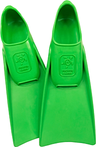 Ласты детские для бассейна Propercarry Super Elastic, размер - 25-26, цвет - зелёный, 100% натуральный каучук, рис. 1 - Swimi - интернет магазин