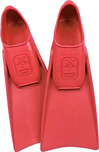 В бассейн - детские ласты Propercarry Super Elastic, 100% мягкий каучук, закрытая пятка, 25-26, красные и детские очки для плавания Cressi Crab зелёные, рис. 1 - Swimi - интернет магазин