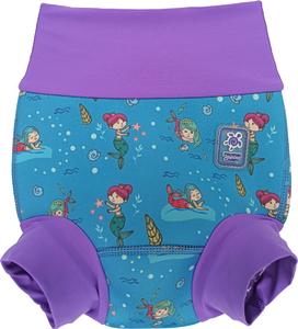 Детский многоразовый подгузник Propercarry неопреновый, 1-1,5 года, размер - L, 74-80 см, вес ребенка - от 10 до 12 кг, принт - Русалки на голубом - артикул: SN1903-001L, рис. 1 - Swimi - интернет магазин