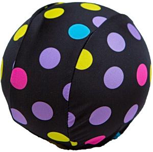 Шапочка для плавания грудничковая ЧудоТрусики КРУГИ НА ЧЕРНОМ Бифлекс, материал - 82% полиамид, 18% эластан, цвет - черный