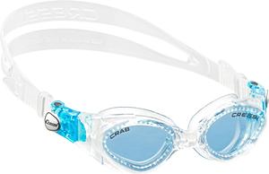 В бассейн - детские ласты Propercarry Super Elastic, 100% мягкий каучук, закрытая пятка, 25-26, красные и детские очки для плавания Cressi Crab прозрачные с голубыми стёклами, рис. 2 - Swimi - интернет магазин