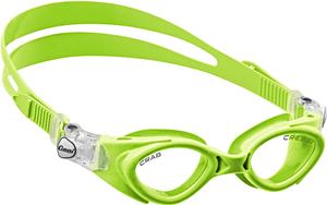 Детские очки для плавания Cressi CRAB, возраст - 3-7 лет, цвет - салатовый (зеленый), цвет стёкол - прозрачный, Италия, рис. 1 - Swimi - интернет магазин