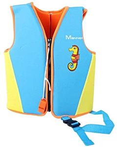 Детский жилет спасательный Manner для плавания, 1-2 года, цвет - голубой (небесный), неопрен, рис. 1 - Swimi - интернет магазин