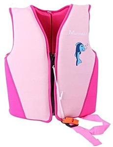 Детский жилет спасательный Manner для плавания от 6 лет, 6-10 лет, цвет - розовый, неопрен, рис. 1 - Swimi - интернет магазин