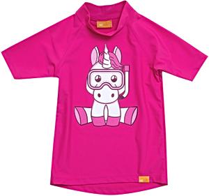 УФ-защитная детская футболка IQ-UV Unicorn Kids, рост - 80-86 см, возраст - 1-1,5 лет, цвет - розовый, рис. 1 - Swimi - интернет магазин